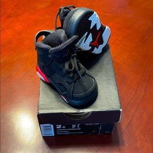 Air Jordan 6 Retro TD size 2C Black Infrared